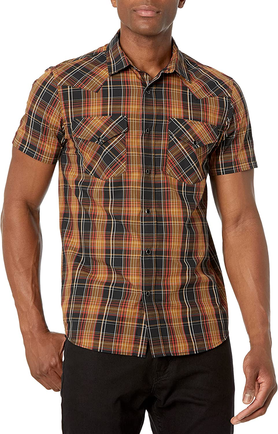 Pendleton All 2021 new items free shipping Men's Short Sleeve Snap Frontier Classic-Fit Front Shi