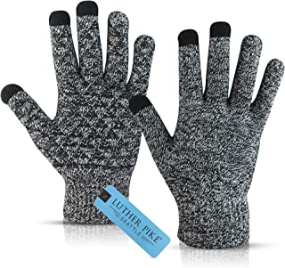 Winter Gloves for Men - Touchscreen Sensitive, Soft Thermal Lining - Elastic Cuff, Anti-Slip Silicone, Flexible Fabric