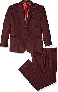 Men's 3-Piece Notch Lapel Boucle Vested Suit