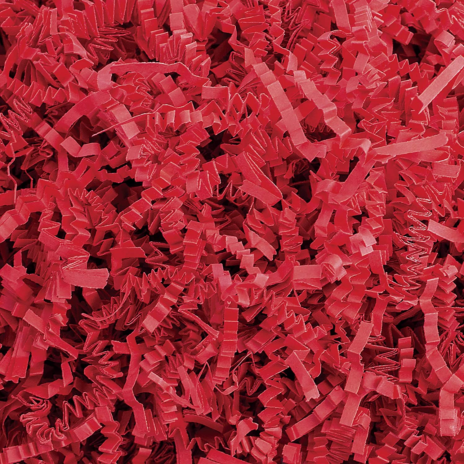 Crinkle Cut Paper Shred Filler (1 LB) for Gift Wrapping & Basket Filling - Red | MagicWater Supply