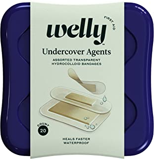 Welly Bandages - Undercover Agents, Hydrocolloid, Waterproof, Adhesive, Assorted Shapes, Clear - 20 ct