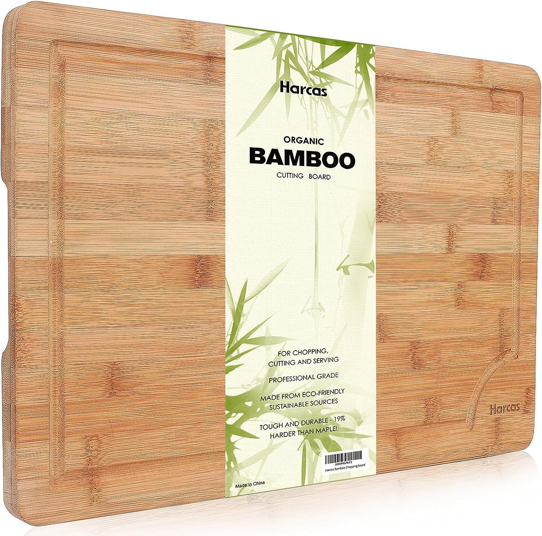 Tabla de Cortar De Bambú Orgánico Superior De Harcas