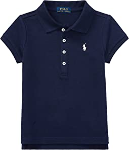 Polo Ralph Lauren Kids Short Sleeve Mesh Polo Shirt (Toddler)