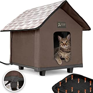 Heated Cat Houses for Indoor and Outdoor Cats, Elevated, Waterproof and Insulated. A Safe Pet House and Kitty Shelter for ...