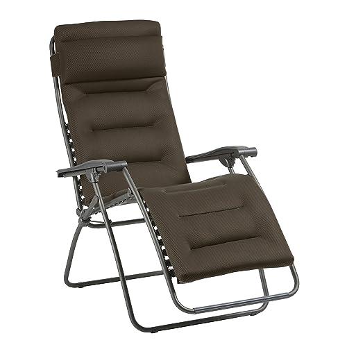 Lafuma Fauteuil Relax, Pliable et réglable, RSX Clip, Air Comfort, Couleur: Taupe, LFM2038-8719