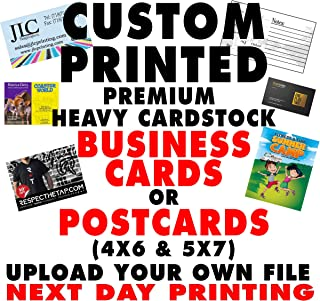 100-500 16pt Custom Printed Business Cards Or Postcards Upload Own File Single or Double Sided for Personal or Business