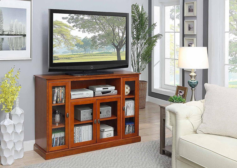 Convenience Concepts Summit Highboy TV Stand, Dark Walnut