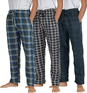 Real Essentials 3 Pack Boys Pajama Pants Super Soft Fleece PJ Lounge Bottoms for Kids
