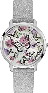 GUESS Womens Quartz Watch, Analog Display and Leather Strap GW0008L1