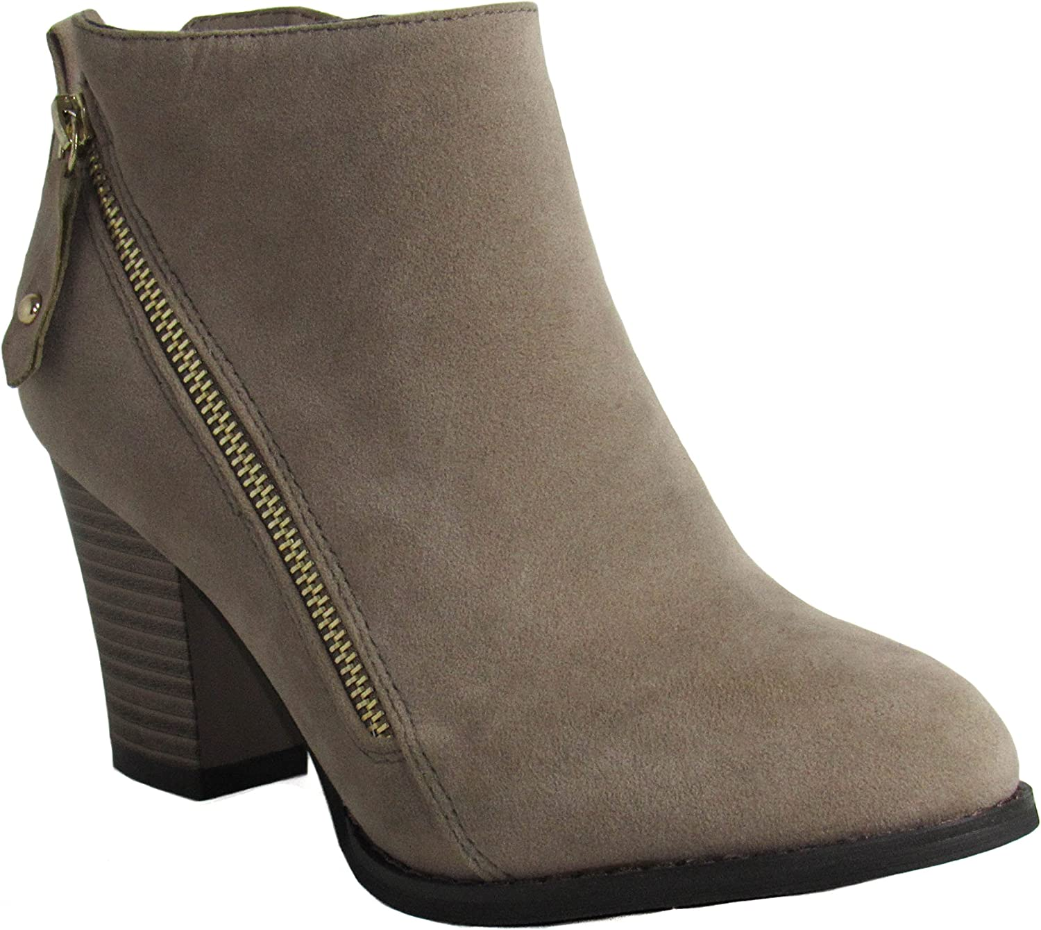 Glaze Womens Nadia-1 Taupe Boots 10 D(M) US