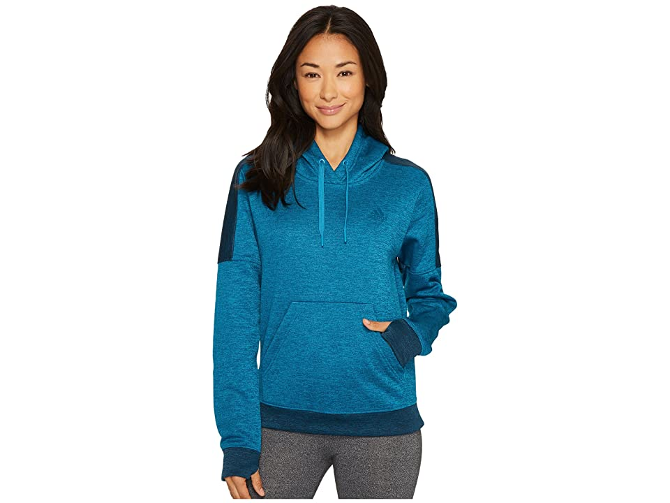 adidas Team Issue Fleece Pullover Hoodie (Mystery Petrol Melange/Petrol Night Melange/Petrol Night) Women