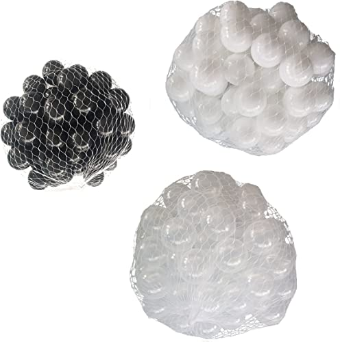 el mas de moda Pelotas para para para pelotas baño variadas Mix con transparente, Color blanco y negro Talla 6000 Stück  deportes calientes