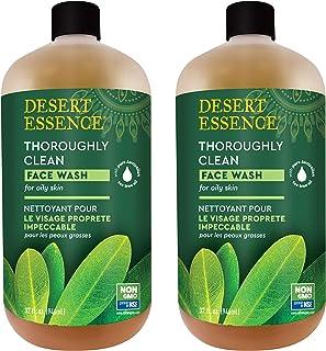 Desert Essence Thoroughly Clean Face Wash - Original - 32 Fl Oz - Pack of 2 -Tea Tree Oil -For Soft Radiant Skin - Gentle ...