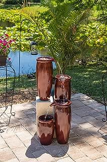 Kenroy Home 51038RST Vessel Indoor/Outdoor Fountain, Rust