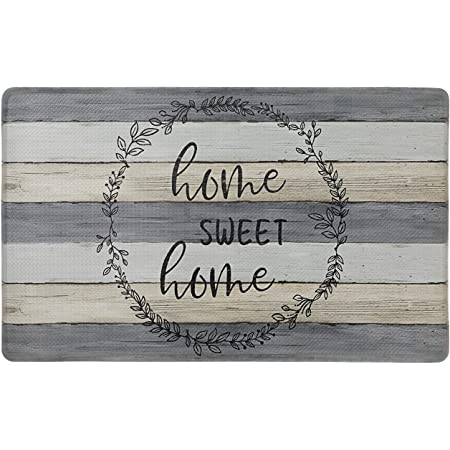 SoHome Cozy Living Anti Fatigue Mat Kitchen Mat Non Slip Stain Resistant Easy Clean 1//2 Inch Thick Kitchen Floor Mats Damask Grey 18 x 30