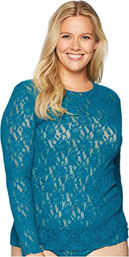 Plus Size Signature Lace Unlined Long Sleeve Top