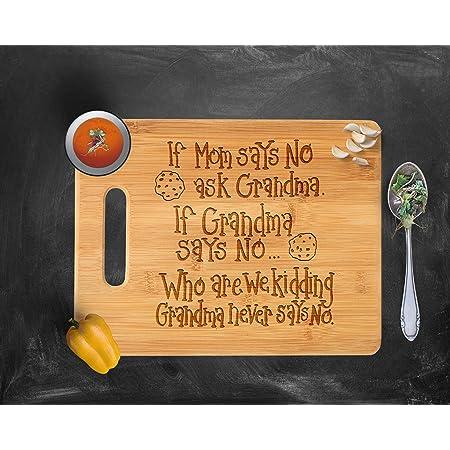 Custom Cutting Board Personalized Cutting Board Grandma Grandmother/'s Mother/'s Day Walnut Wood --21031-CUTB-002 Engraved Cutting Board