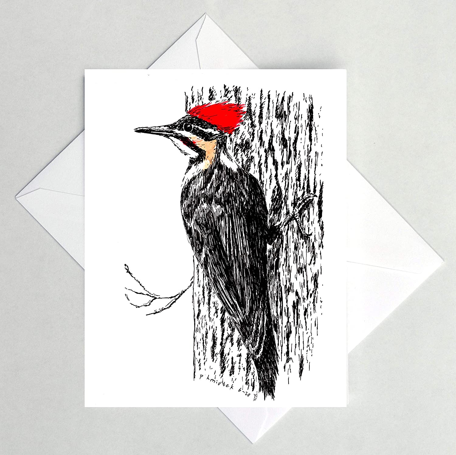 Pileated Woodpecker Note Bird Animer and price revision Card Ranking integrated 1st place