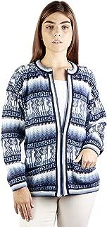 Raymis Women´s Alpaca Wool Llama Zip Cardigan - Warm, Soft & Comfortable