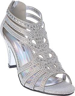 kinmi25 Womens Evening Sandal Rhinestone Dress-Shoes