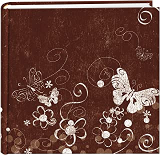 Pioneer Photo Albums 200 Pocket Printed Aged Butterfly Swirl Design Photo Album for 4 by 6-Inch Prints
