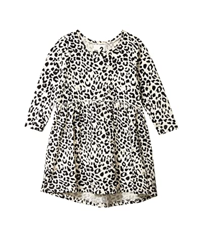 COTTON ON Freya Long Sleeve Dress (Little Kids) (Dark Vanilla/Leopard) Girl