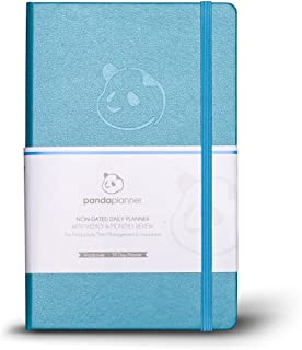 Panda Planner - Cyan Daily 2021-2022 Planner, Calendar and Gratitude Journal to Increase Productivity, Time Management & H... photo
