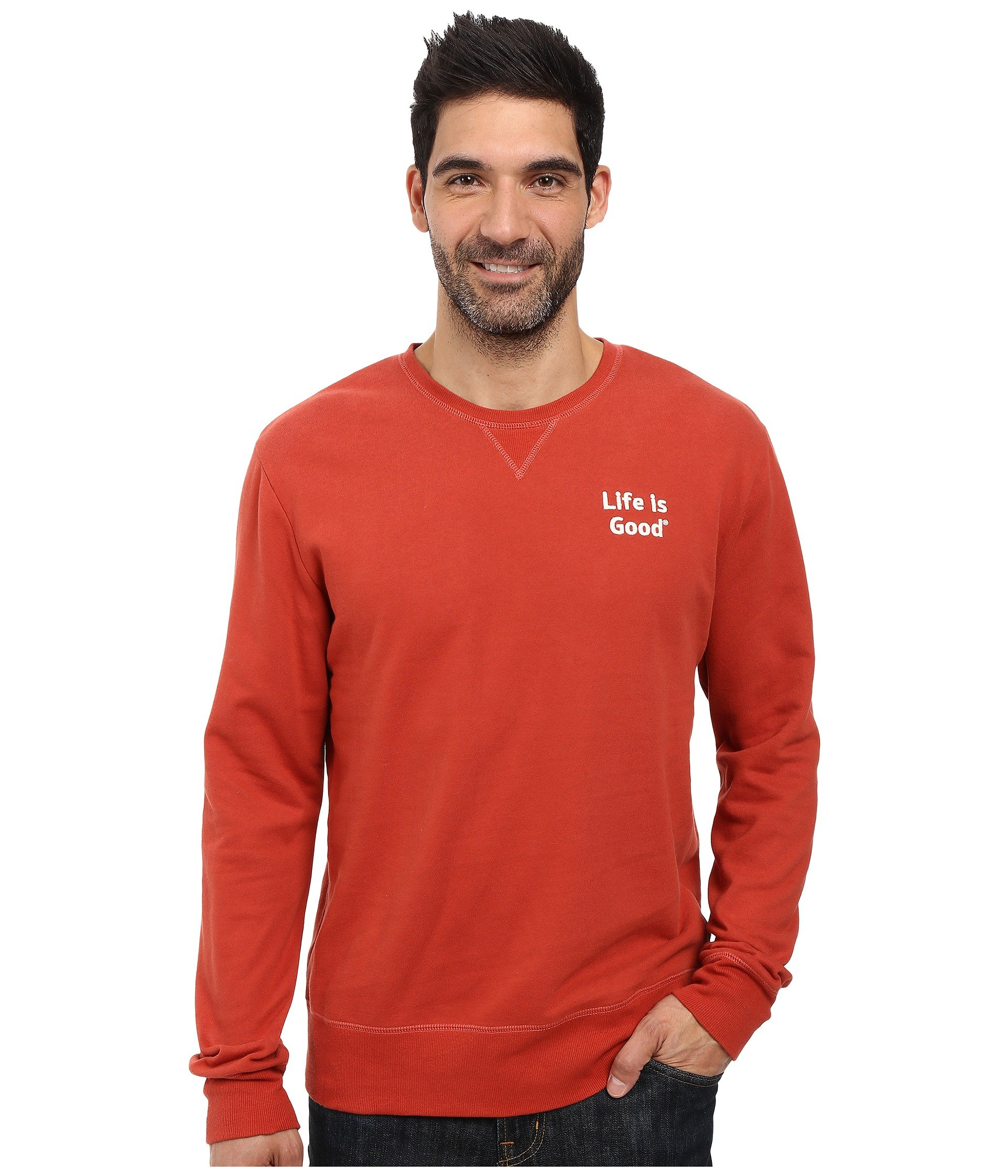 Buzo o Chaqueta Deportiva para Hombre Life is Good Life is Good® Bold Go-To Crew  + Life is Good en VeoyCompro.net
