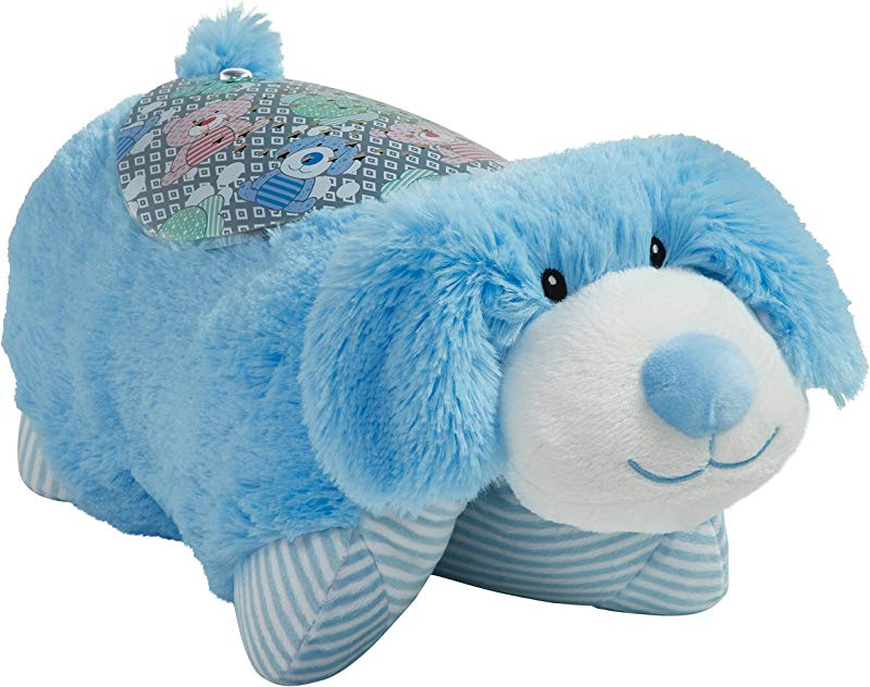 Pillow Pets Sleeptime Lites My First Blue Puppy Stuffed Animal Plush Night Light