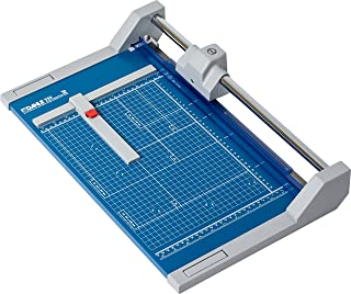 "Dahle 550 Professional Rolling Trimmer, 14-1/8"" Cut Length, 20 Sheet Capacity, Self-Sharpening, Automatic Clamp, German Engineered Paper Cutter"