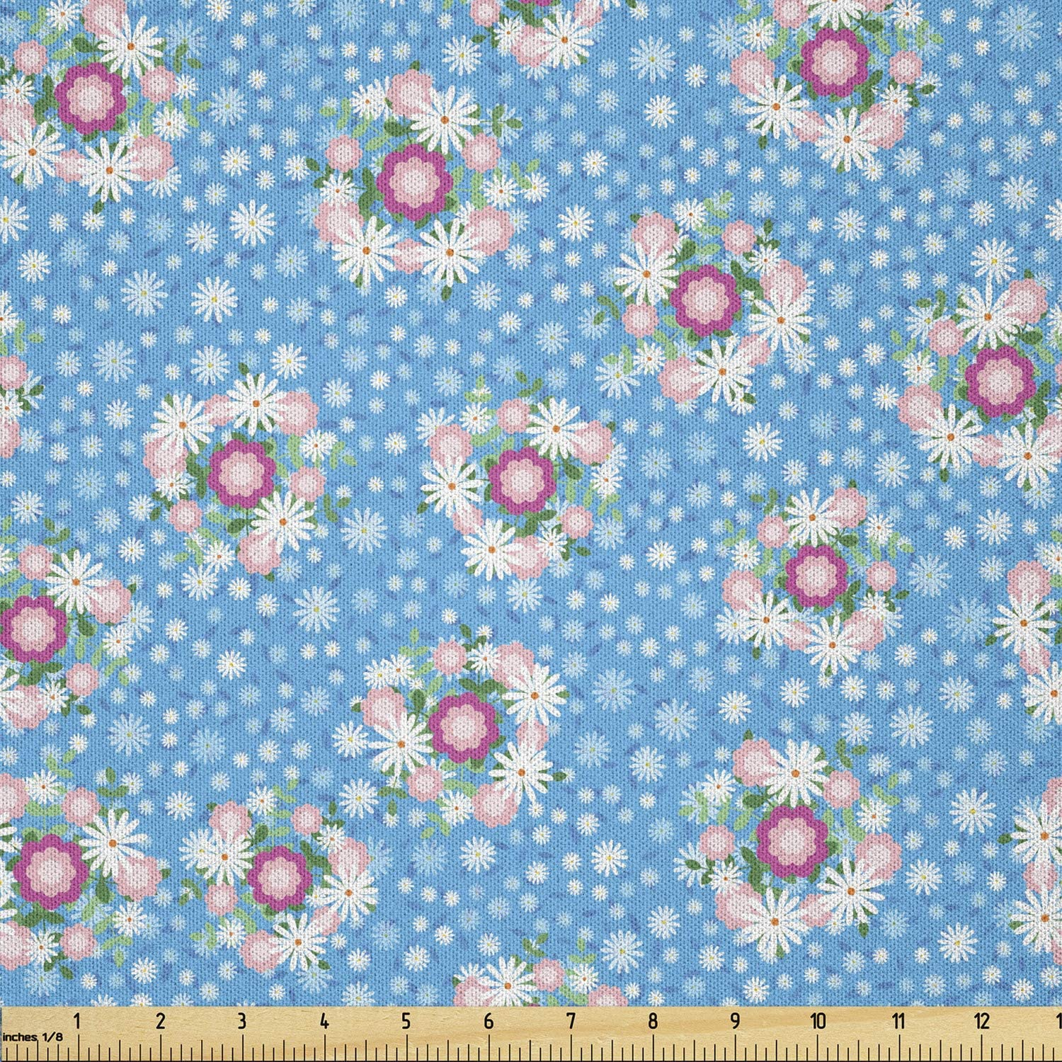Lunarable Floral Fabric by The Bri Corsage Limited time for free shipping New arrival Shabby Bouquets Yard