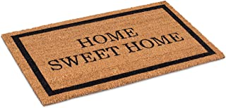 BirdRock Home Home Sweet Home Coir Doormat - 18 x 30 Inch - Standard Welcome Mat with Black Border and Natural Fade - Viny...