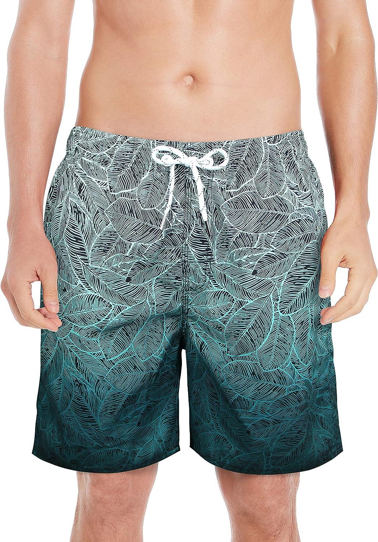 MILANKERR Men Swim Trunks with Mesh Liner,Men Bathing Suit,Swimming Trunks for Men,5.5 Inseam,UPF50+