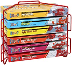 Learning Advantage QUIZMO Language Arts Game Series - Set of 6 Bingo-Style Language and Literacy Games for Kids - Teach Analogies, Phonetics, Sight Words, Vocabulary and Word Structure