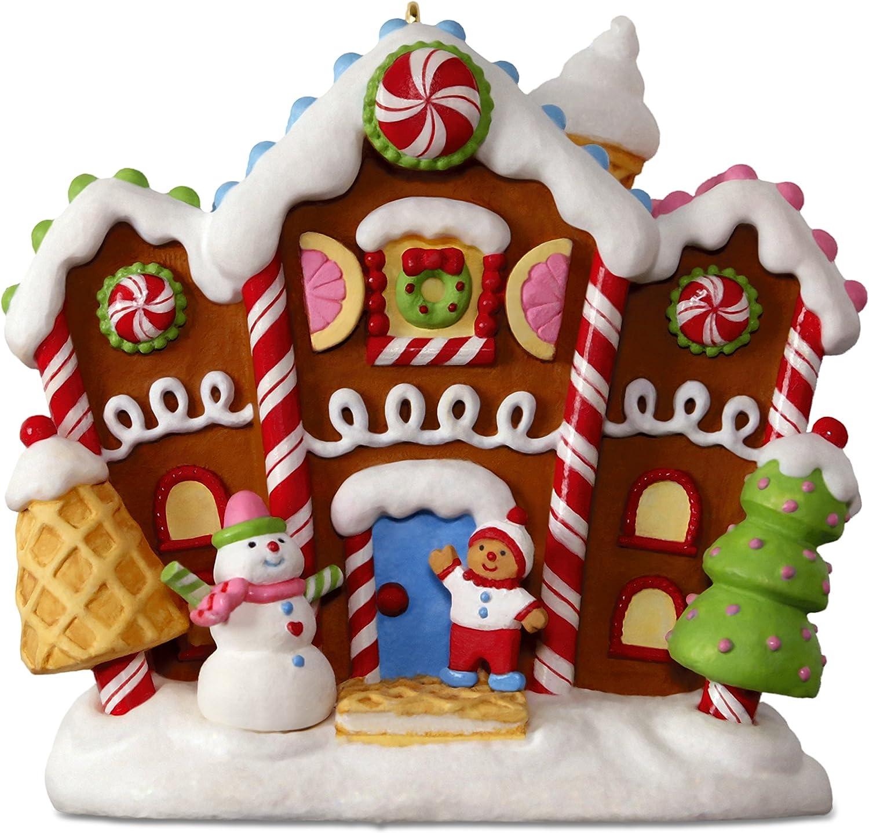 Hallmark Keepsake 2017 Gingerbread Merriest House in Town Musical Christmas Ornament With Light