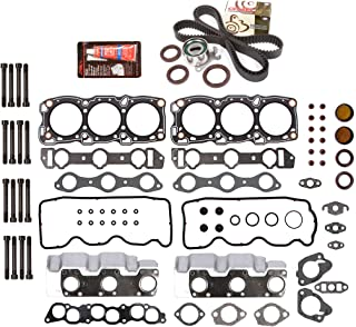 Evergreen HSHBTBK5013 Head Gasket Set Head Bolts Timing Belt Kit Fits 89-00 Chrysler Dodge Mitsubishi 3.0 6G72