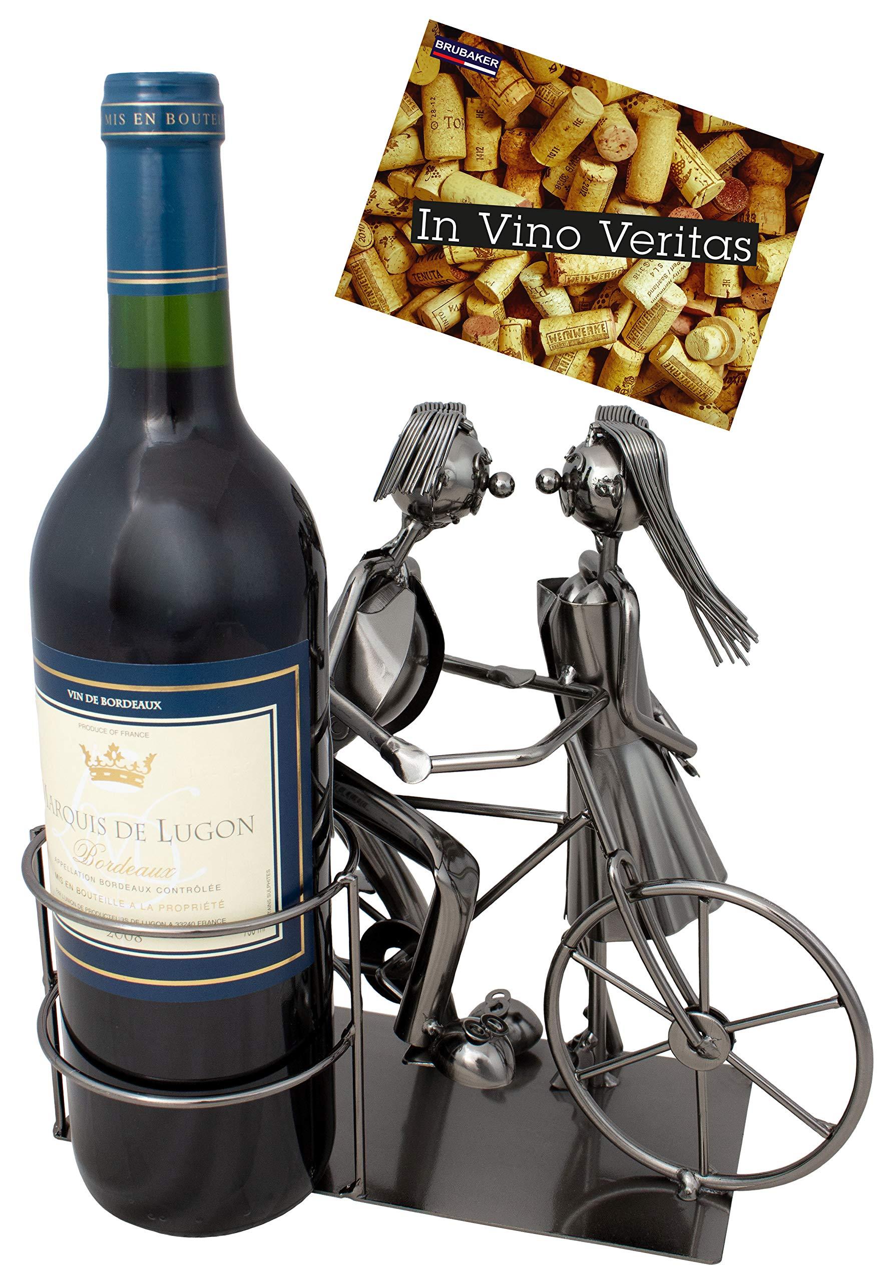 BRUBAKER Porta botella de vino amantes con bicicleta - Decoración ...
