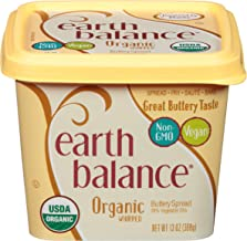 Earth Balance Organic Whipped Buttery Spread, Non-GMO Project Verified, Vegan, 13 Ounce Tub