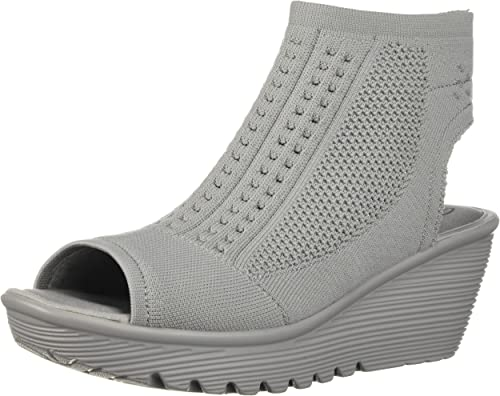 Skechers Skechers Wohommes Parallel-Tight Peep Toe Stretch Knit Wedge Sandal, gris, 7 M US  qualité de première classe