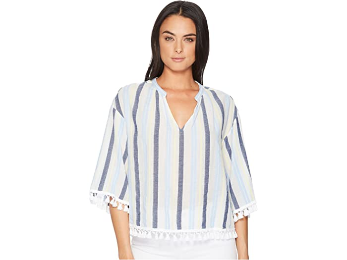 Vince Camuto Sheer Embroidered Tunic