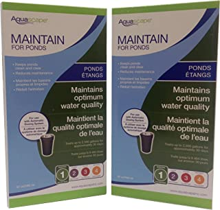 Aquascape 2-Pack of Maintain for Ponds 32 Ounce Refill for Automatic Dosing System Keeps Water Clean, Clear and Reduces Maintenance - Fish and Plant Safe