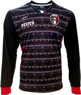 New Men's Mexico Jersey Arza Design Long Sleeve Black