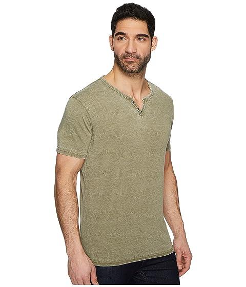 Olive de Button Lucky Dark Notch Marca Shirt Burnout 0qaSdSw