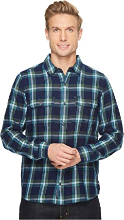 Toad&Co Indigo Flannel Slim Long Sleeve Shirt