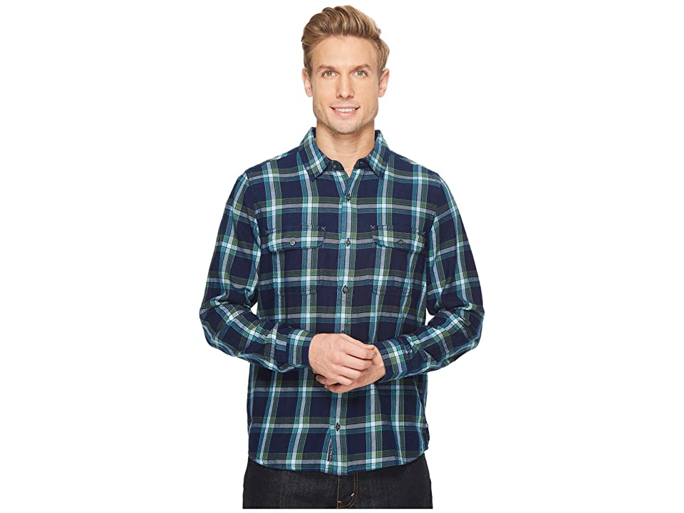 Toad&Co Indigo Flannel Slim Long Sleeve Shirt (Kale) Men