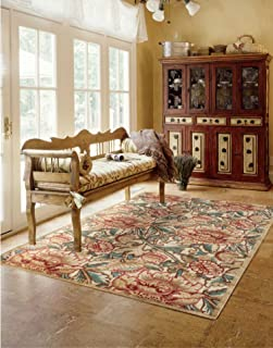 Nourison Graphic Illusions  Light Gold Rectangle Area Rug, 3-Feet 6-Inches by 5-Feet 6-Inches (3'6