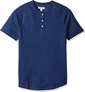 Amazon Brand - Goodthreads Men's Short-Sleeve Indigo Henley