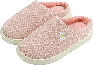 Komyufa Slip On Fuzzy Slippers for Women Soft Memory Foam Non-Slip House Slippers Outdoor Indoor Cozy Bedroom Shoes