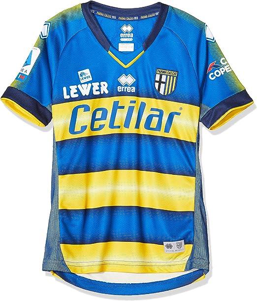 Errea MC Parma Calcio 2^MG Shop 19/20 Maglietta Sportiva Unisex - Bambini