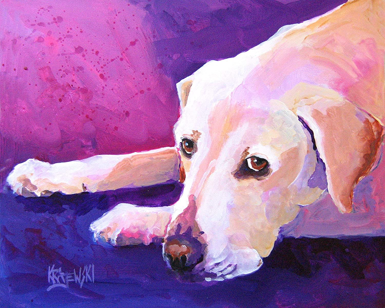 Philadelphia Mall Yellow Labrador Retriever Art Print Or safety From Lab Gifts